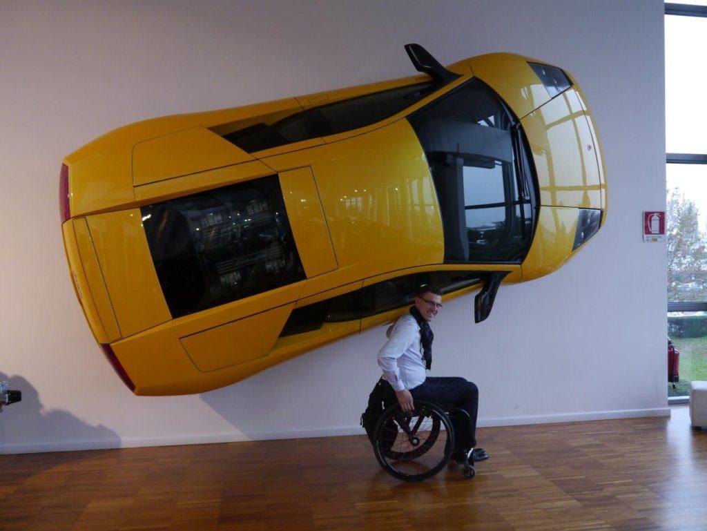 Ekspozycja Lamborghini w muzeum marki