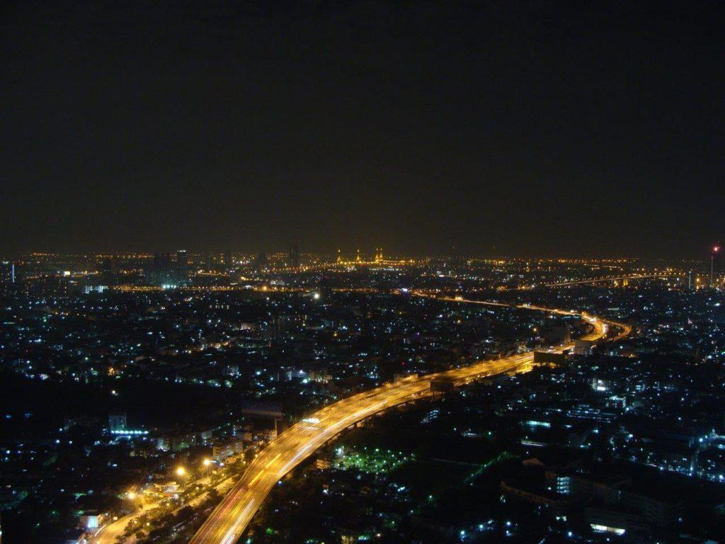 Nocny widok na Bangkok