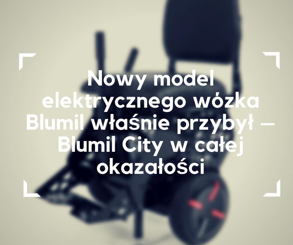 Wózek elektryczny Blumil City, wózek inwalidzki, elektryczny wózek miejski, wózkowicze
